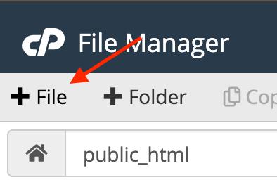 create file option