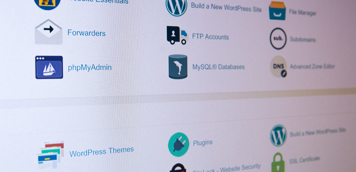 web hosting control panel features